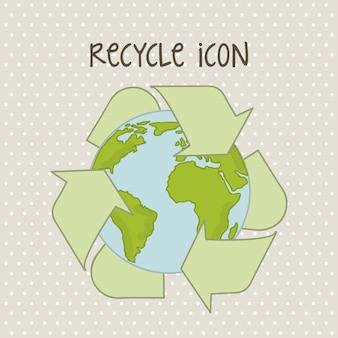 Uratować planetę na beżowym tle ilustracji wektorowych