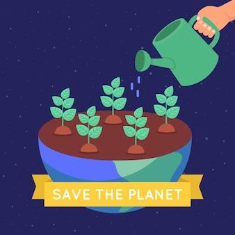 Uratuj planetę ekologiczną koncepcję