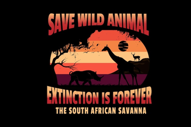 Uratuj wyginięcie dzikich zwierząt to na zawsze sawanna w afryce południowej