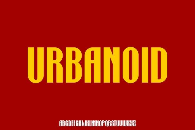 Urbanoid, czcionka miejska skrócona czcionka