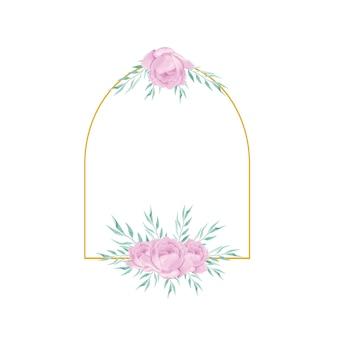 Urocza akwarela ślubna kwiatowa dekoracja kwiatowa