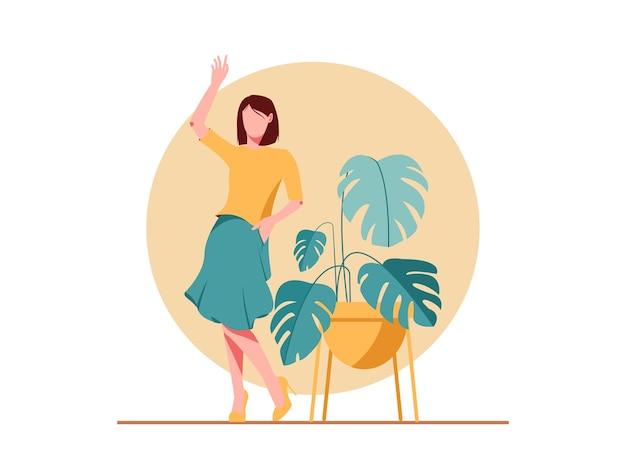 Urocza atrakcyjna ładna dziewczyna podnieść rękę