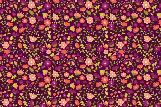 Urocza ditsy tapeta w kwiatowy wzór
