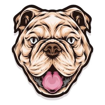 Urocza głowa pitbull