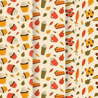 Urocza jesienna kolekcja wzorów z liśćmi