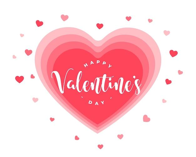 Urocza Karta Walentynki Z Projektem Serca Darmowych Wektorów