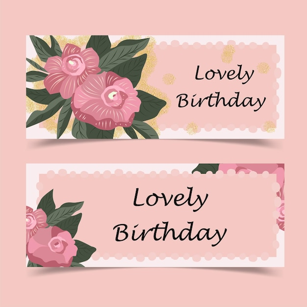 Urocza kartka urodzinowa ozdobiona kwiatem