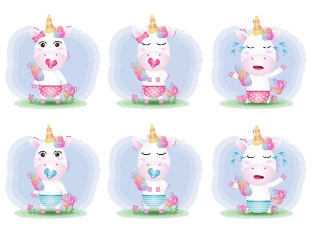 Urocza kolekcja baby unicorn w dziecięcym stylu