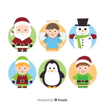 Urocza kolekcja bożonarodzeniowa z płaskim wzorem