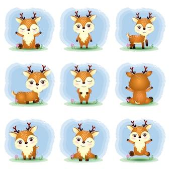 Urocza kolekcja jeleni w stylu dziecięcym