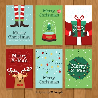 Urocza kolekcja kartki świąteczne z płaskiej konstrukcji