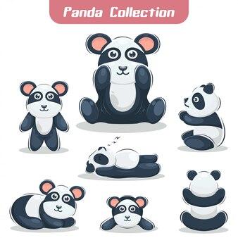 Urocza kolekcja premium maskotka panda