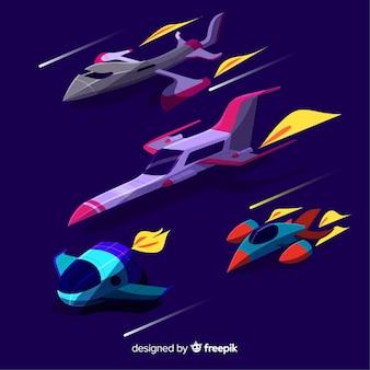 Urocza kolekcja statków kosmicznych o płaskiej konstrukcji