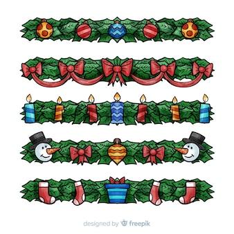 Urocza kolekcja świątecznych ozdób choinkowych