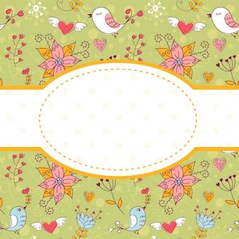 Urocza kolorowa pocztówka zaproszenie