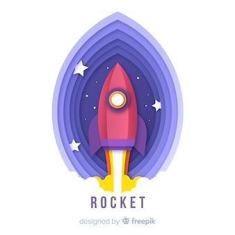 Urocza kosmiczna kompozycja rakietowa w stylu origami