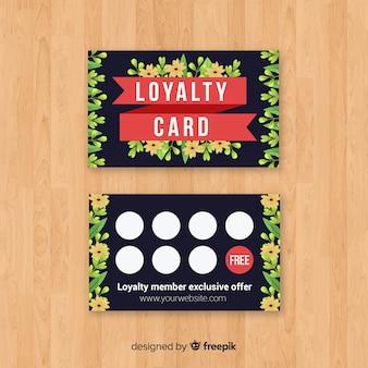 Urocza kwiecista karta lojalnościowa z nowoczesnym stylem