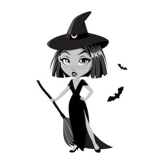 Urocza mała czarownica.