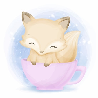 Urocza mała foxy cute animal