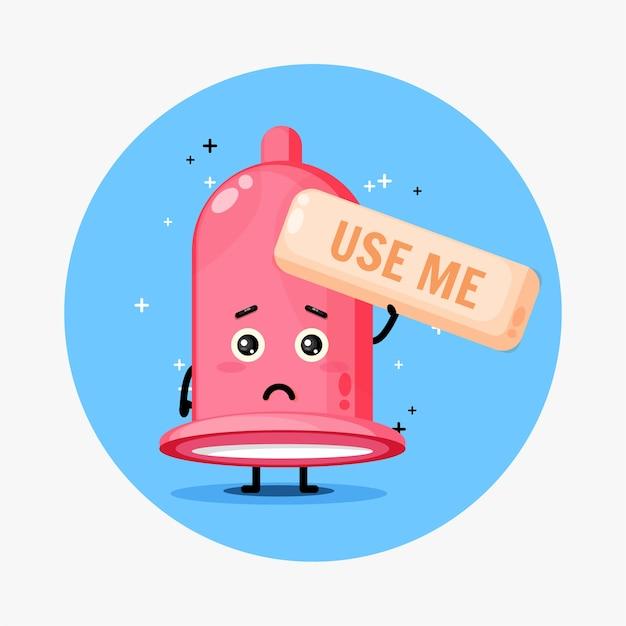 Urocza maskotka prezerwatywy prosi o jej użycie