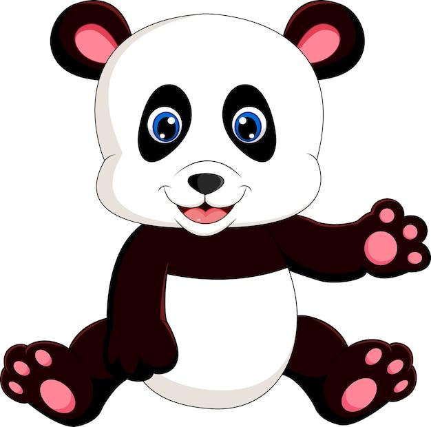 Urocza panda dla dzieci