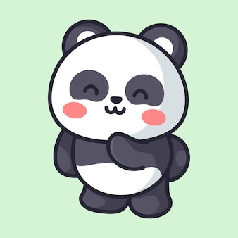 Urocza panda robi uroczą pozę