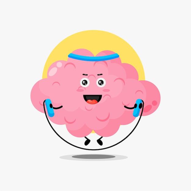 Urocza postać mózgu sprawia, że siłownia skacze na skakance