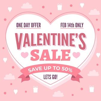Urocza Promocja Sprzedaży Na Walentynki Darmowych Wektorów