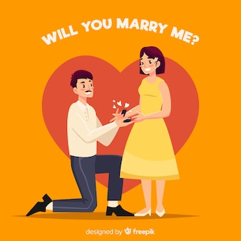 Urocza propozycja małżeństwa z płaską stylistyką