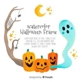 Urocza ręka rysujący Halloween tło