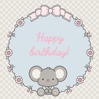 Urocza ramka z okazji urodzin z wektorem premium dla niemowląt!