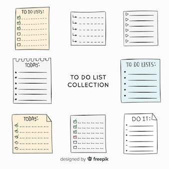 Urocza ręcznie rysowana lista do zrobienia