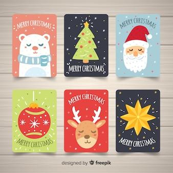 Urocza ręcznie rysowane kartki świąteczne kolekcji