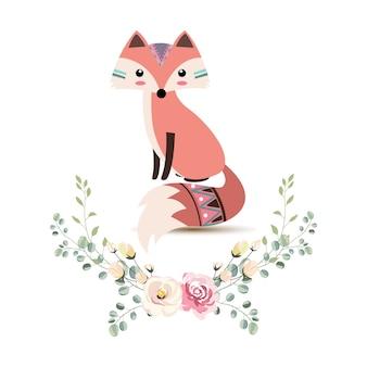 Urocza tribal fox ilustracja