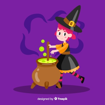 Urocza wiedźma halloween