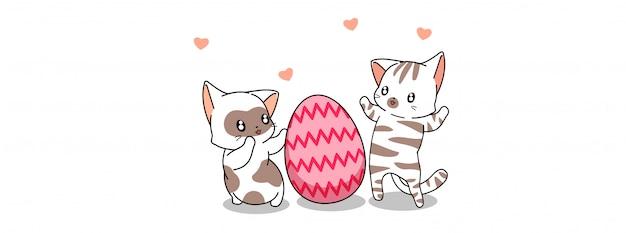 Urocze koty w dzień jajka wielkanocnego