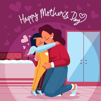 Urocze tło dzień matki