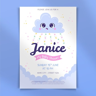 Urocze zaproszenie na baby shower z chuva de amor