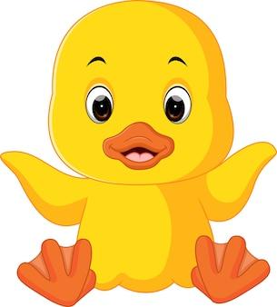 Uroczy kreskówka kaczka