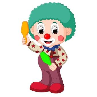 Uroczy kreskówka klaun