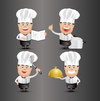 Uroczy ludzie. profesjonalny. szef kuchni