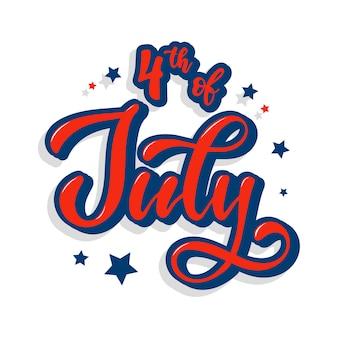 Uroczy napis cytatem z 4 lipca