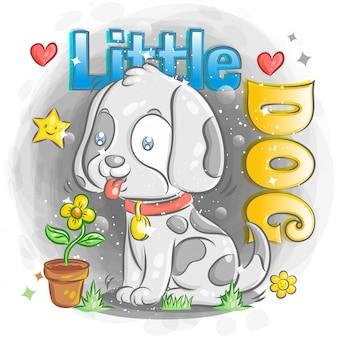 Uroczy pies dalmatyński z uczuciem szczęścia