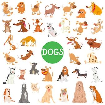 Uroczy pies znaków duży zestaw