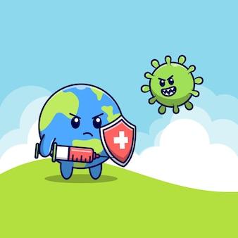 Uroczy świat walczy z koronawirusem