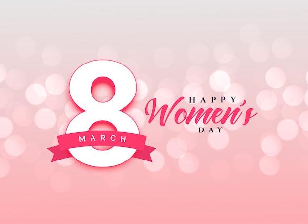 Uroczy szczęśliwy kobiet dnia świętowania karcianego projekta tło