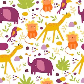 Uroczy wzór safari afryka