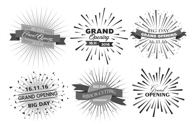 Uroczyste otwarcie projektu ilustracji wektorowych