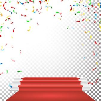 Uroczyste podium na scenie