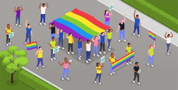 Uroczystość parady dumy gejowskiej